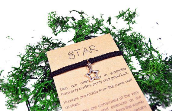 Pulsera de Estrella. Pulsera hecha a mano de macrame.
