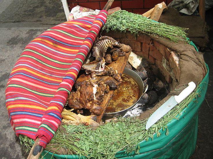 Pachamanca, peruvian food