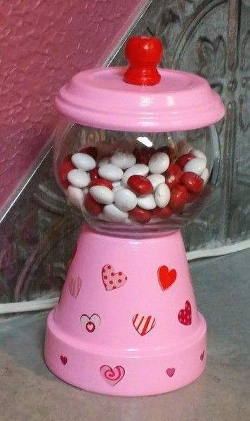 Make this cute, inexpensive candy machine for Valentine's Day or decorate for any occasion. It makes a nice gift for a friend or co-worker.