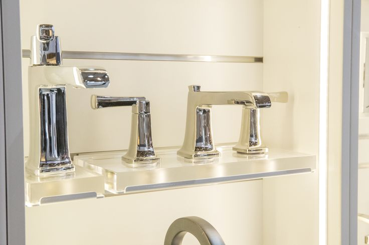 American Standard Townsend Single-handle and Widespread Bathroom Faucets seen at IDS Toronto.
