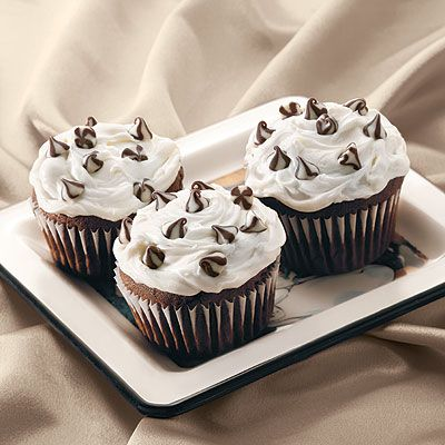 Triple Treat Chocolate Cupcakes -- With homemade chocolate frosting, these are a wonderful chocolate overload.