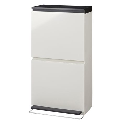 分別鏡面ダストボックスワイド40L 通販 【ニッセン】 掃除用品・ゴミ箱 ゴミ箱・ダストボックス