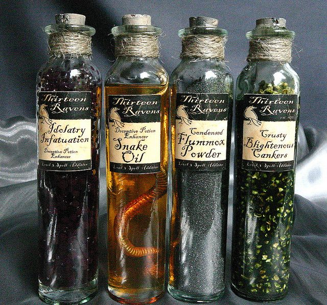 Potion Bottles by deadspider