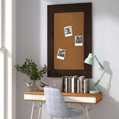 Charlton Home Aristarchus Wall Mounted Bulletin Board Home Organization Wall Charlton Home Frames On Wall