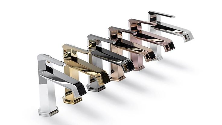 Noken taps in different finishes available from TileStyle