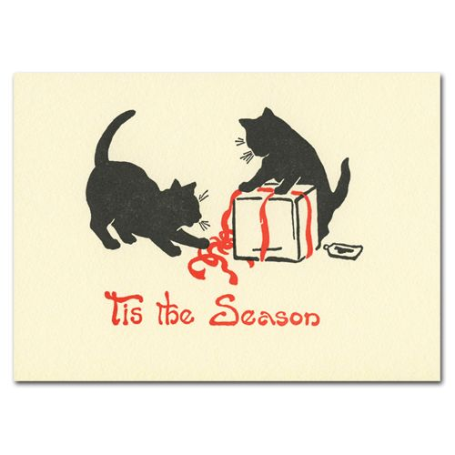143 best greeting card companies images on pinterest greeting card wrap cats holiday cards box of 10 letterpress cards envelopes m4hsunfo