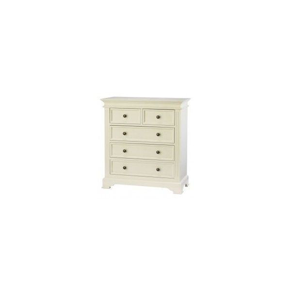 Cream 5 Drawer Chest of Drawers; Banbury Cream Bedroom Furniture; Chest of Drawers; HD3510 found on Polyvore featuring polyvore, home, furniture, storage & shelves, dressers, off white dresser, pine furniture, pine dresser, antique white dresser and cream furniture