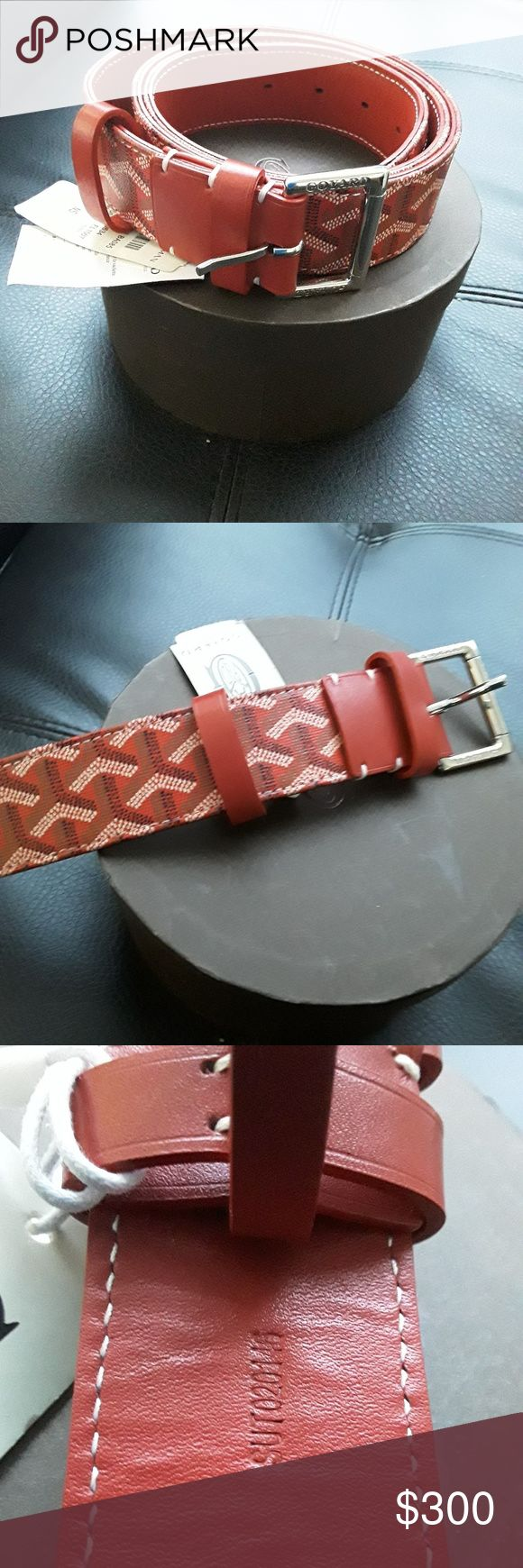 GOYARD BELT IT COME'S WITH ORIGINAL BOX, TAGS, DUST BAG, AUTHENTIC CARD, SHOPPING BAG, HOLE ADJUSTER. Goyard Accessories Belts