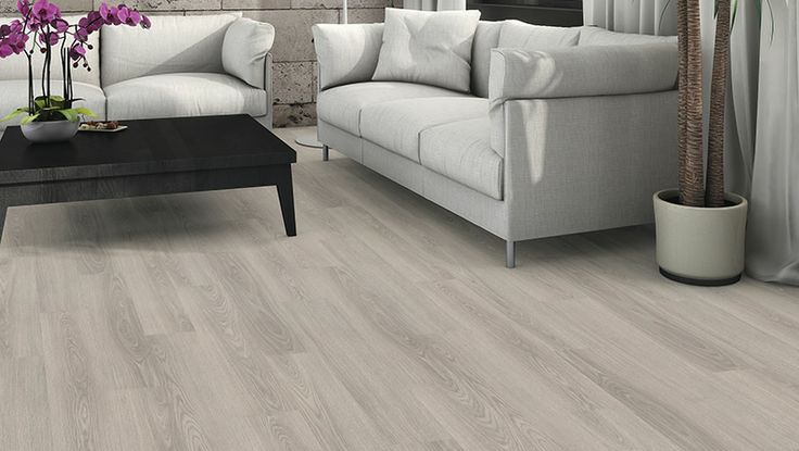 HARO Laminate floor Plank 1-Strip Oak Light Grey authentic (Wood reproduction)