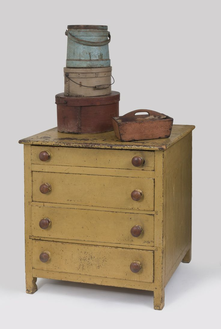 I LOVE this little drawer chest!!!  What a great size and color -- that's my favorite shade of mustard (that I can NEVER find....!!)   ---♥ these colors