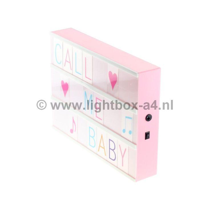 Lightbox A4 roze inclusief 85 letters goedkoop online kopen doe je gemakkelijk en snel in onze webshop voor maar € 35,95! Nergens goedkoper verkrijgbaar!