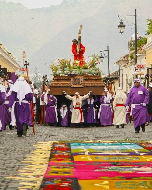 Semana Santa, Antigua, Guatemala:  I swear, there was a procession just about every single day the entire month I was there.