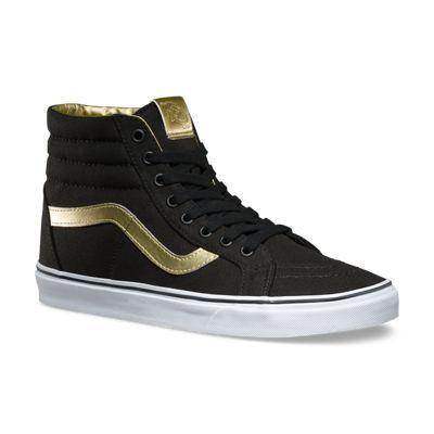 vans sk8 hi pro black gold