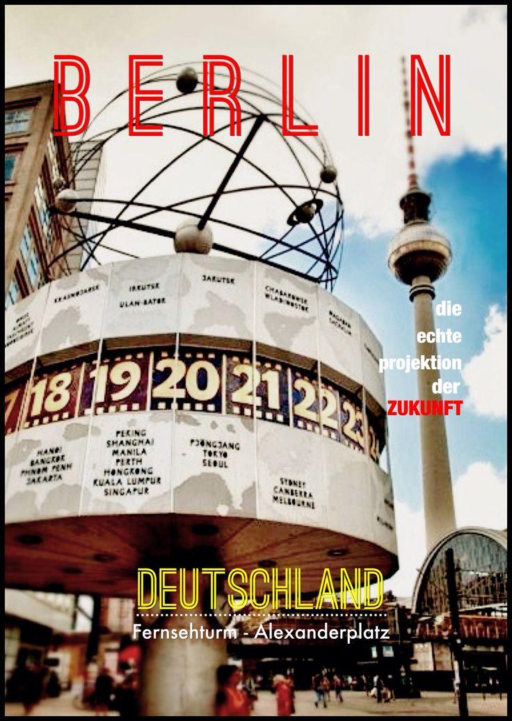 Berlin - Phoster Fernsehturm Alexanderplatz