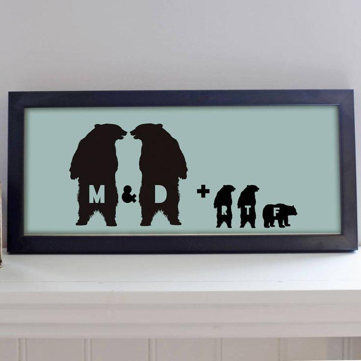 Family Bear Print – Little Pieces