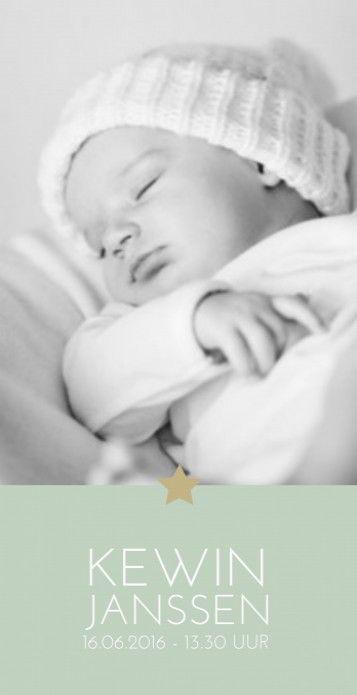Geboortekaartje Kewin voor