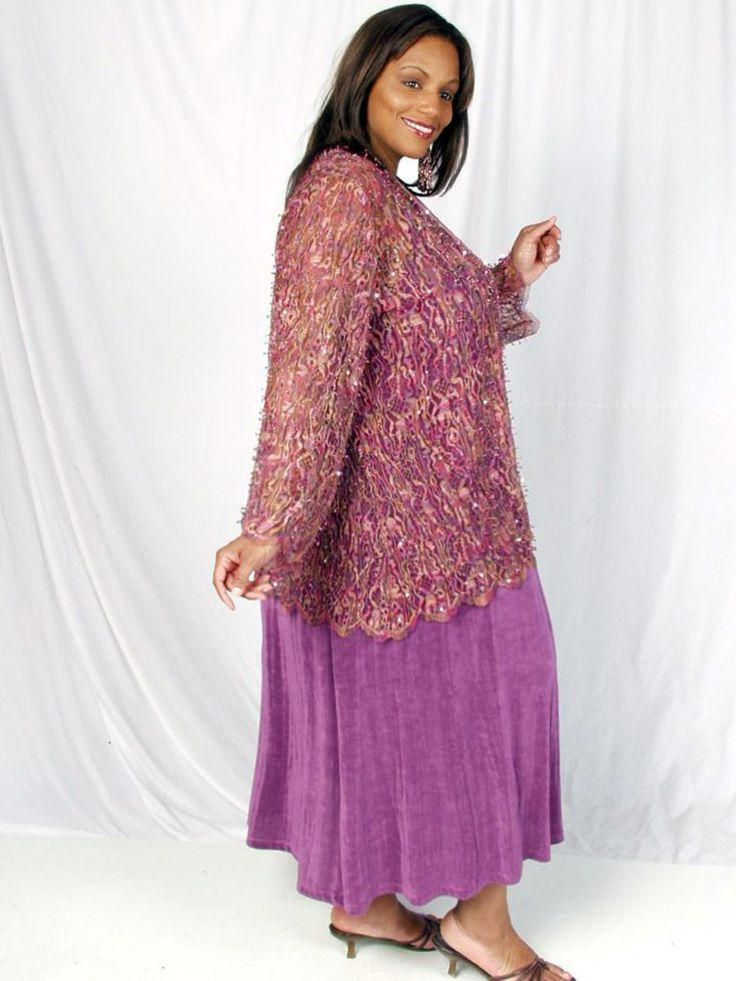 647a79a33c5 Plus Size Special Occasion Jacket Pink Sequins Lace 22/24: Exquisite sequin  and bugle beads hand-applied on lace, perfect for a formal mother of the  bride ...