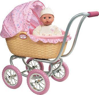 Zapf Baby Annabell Wicker Pram Take Your Baby Annabell