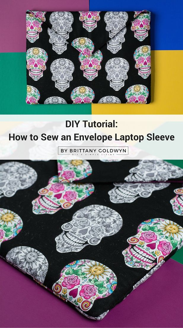 Learn how to sew an envelope laptop sleeve with a velcro closure--great sewing project for beginners.