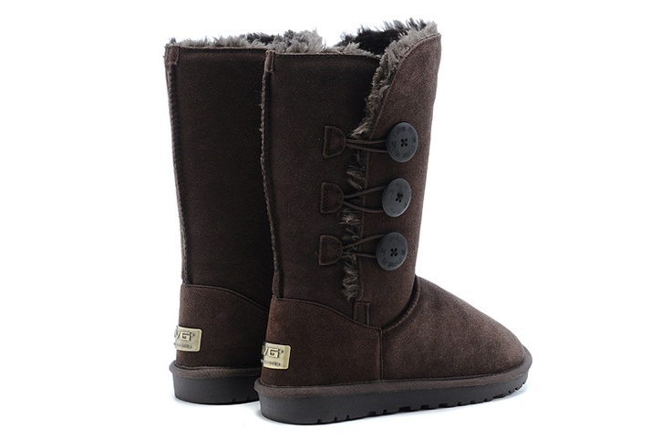 Womens Button Triplet Boot 1873 Chocolate