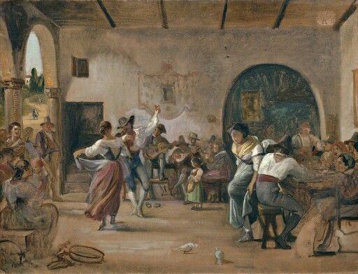 Marstrand: Dans i et osteri, 1860
