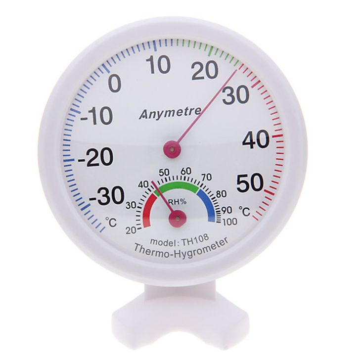 Practical Portable Mini Indoor and Outdoor Centigrade Thermometer and Hygrometer with Dual Scales