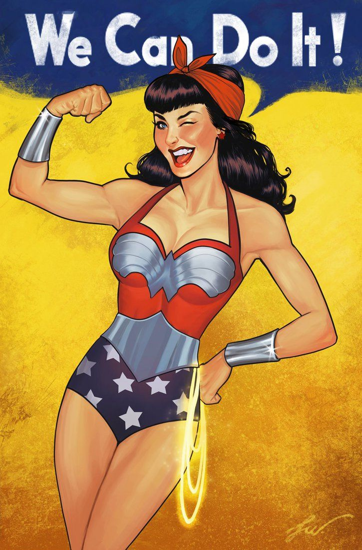 Wonder woman 50's pinup  style-Lucas werneck