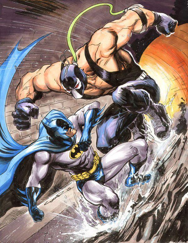 Batman vs. Bane by Yildiray Cinar *