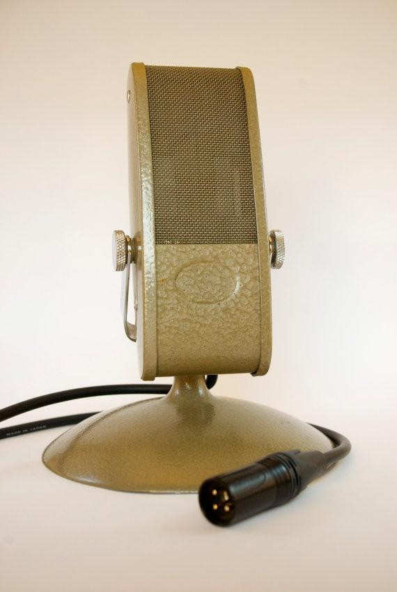 Vintage Grundig Lustraphone ribbon microphone via TikusMusic on Etsy