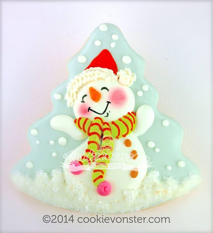 cute snowman decorated cookies - see other boards