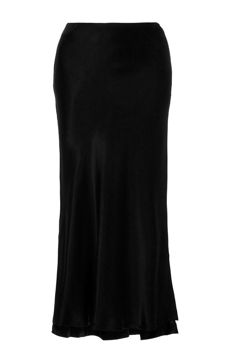 PROTAGONIST Textured Charmeuse Bias Slip Skirt. #protagonist #cloth #skirt