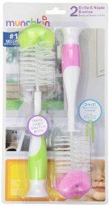 Munchkin Bottle & Nipple Brush - Girl - 2 pk - http://babyentry.com/baby/munchkin-bottle-nipple-brush-girl-2-pk-com/