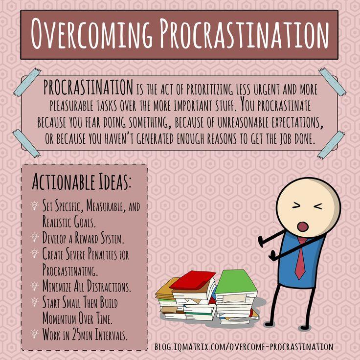 Overcoming thesis procrastination