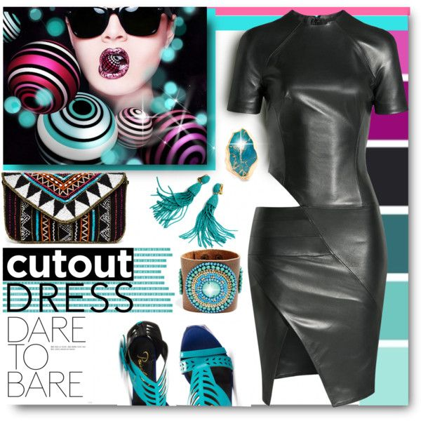 CUT OUT DRESS by kiki-parker on Polyvore featuring Alexandre Vauthier, Privileged, Robert Rose and Sole Society
