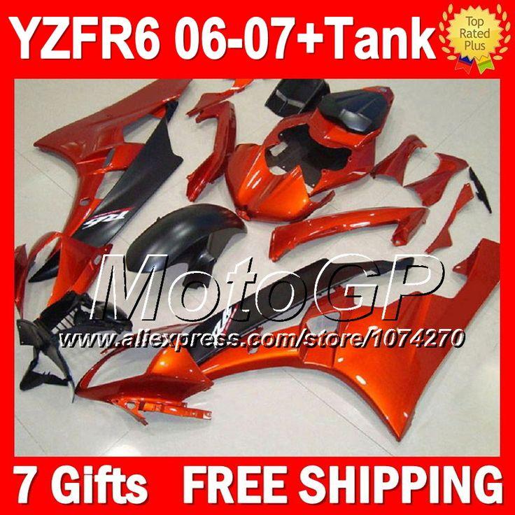 Купить товар7 подарка + тела для YAMAHA YZFR6 06 07 YZF R6 06 07 оранжевый черный P96290 YZF 600 YZF R 6 YZF R6 YZF600 2006 2007 обтекатели блеск орангутанг в категории Щитки и художественная формовкана AliExpress.                              Удостоверение личности aliexpress: MotoGP