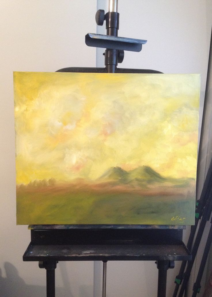 Yellow sky –oil on canvas