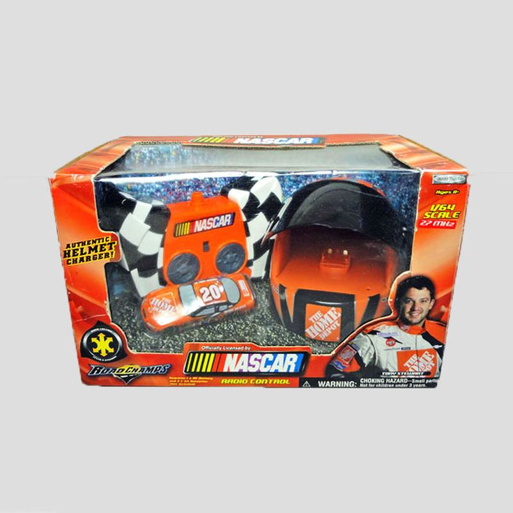 Tony Stewart Nascar Radio Control Car - NCC412 - Tony Stewart Nascar 1/64 Radio Control Car. Authentic Helmet Charger.  Controls speed and steering FOR SALE