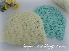 Lacy Crochet: Lacy Stitch Baby Hat Size 3-6 Months, Free Crochet Pattern