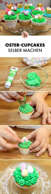 Oster-Cupcakes selber machen – Rezept via Makerist.de