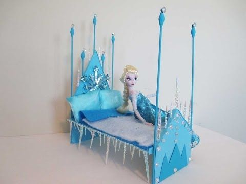How to make a Elsa Doll Bed Tutorial/ Disney Frozen - YouTube