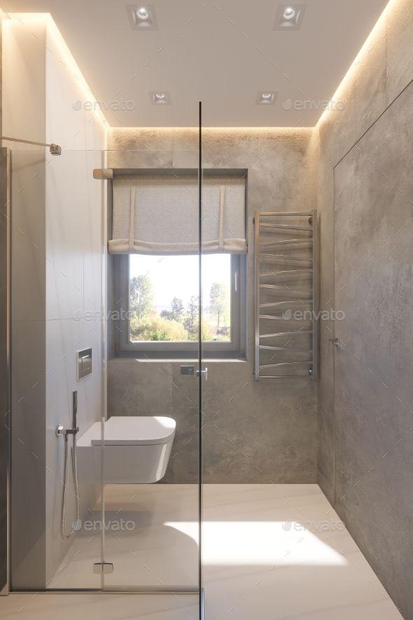 3d Render Interior Design Of The Bathroom Bathroom Interior Design Interior Design Career Bathroom Design