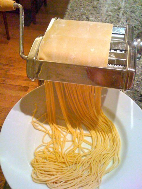 Pasta dough in the Thermomix INGREDIENTS 3 eggs / extra large is great 300g flour 1 T extra virgin olive oil 2-3 t water 3 t = 1 T