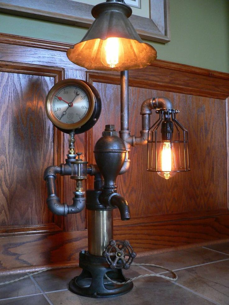 Steampunk Light Lamp Victorian Industrial Vintage Antique Collectibles