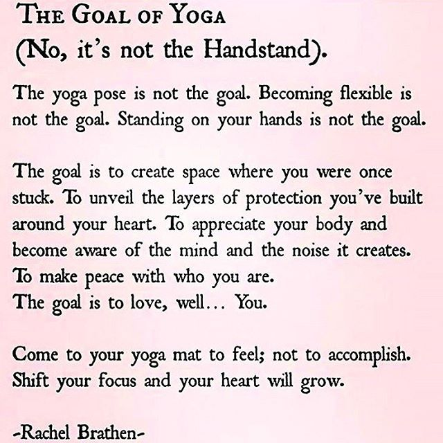 """The Goal of Yoga.  While it has been a growing fad for 10-15 years """"to get that yoga body"""",  that isn't what yoga is about.  It's about mind, body, and spirit connection."""