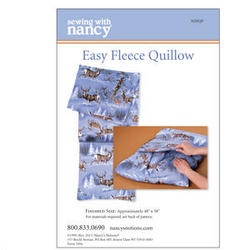 Easy Fleece Quillow Pattern