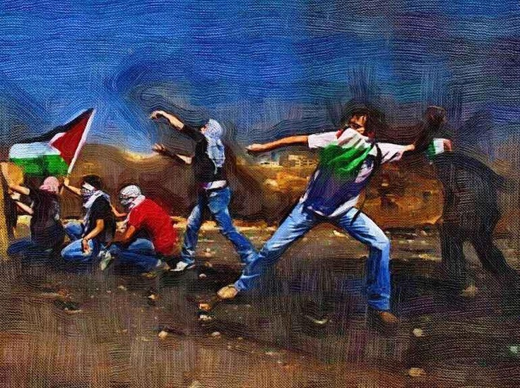 """Palestine Resists"". By Chilean Artist Alberto Smith Saravia"