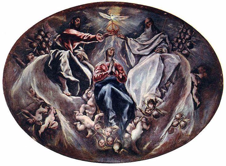 Dominikos Theotokopoulos, called El Greco Coronation of the Virgin, 1603-1605 Illescas, Hospital de La Caridad