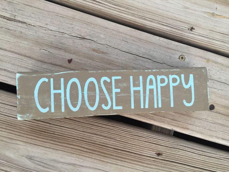 Choose Happy Sign, Boho Room Decor, Apartment Decor, Teen Room Decor, Inspirational Wood Signs, Cute Office Decor, Gift Ideas