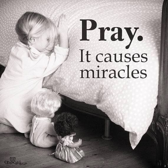 Is there miracles without believing? ... If you believe ... then ask God our Heavenly Father ... Mark 11:24 (NASB) Therefore I say to you, all things for which you pray and ask, believe that you have received them, and they will be granted you.
