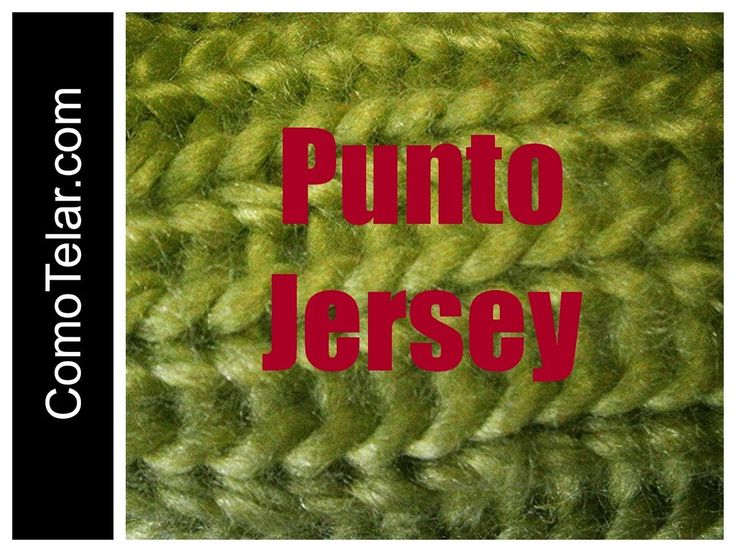PUNTO JERSEY en Telar Redondo / Circular - Loom Knit Stockinette Stitch in Spanish